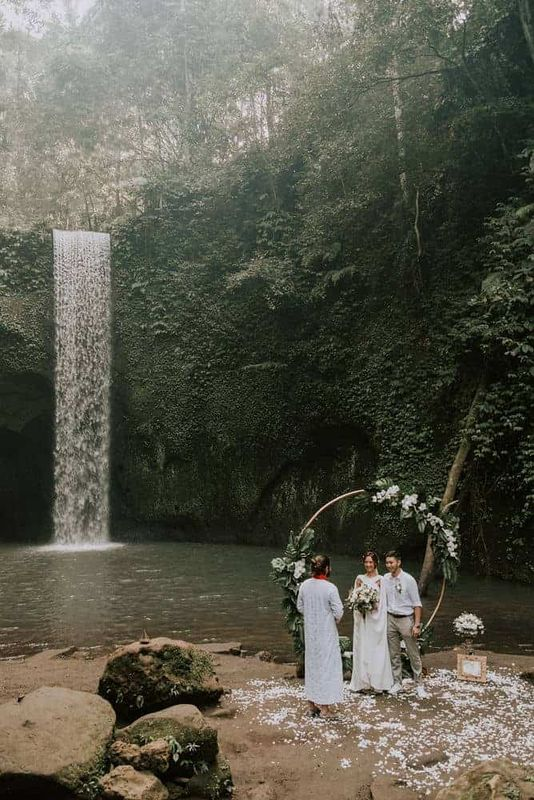Bali Elopement Tibumana Waterfall Bali Wedding Inspiration10