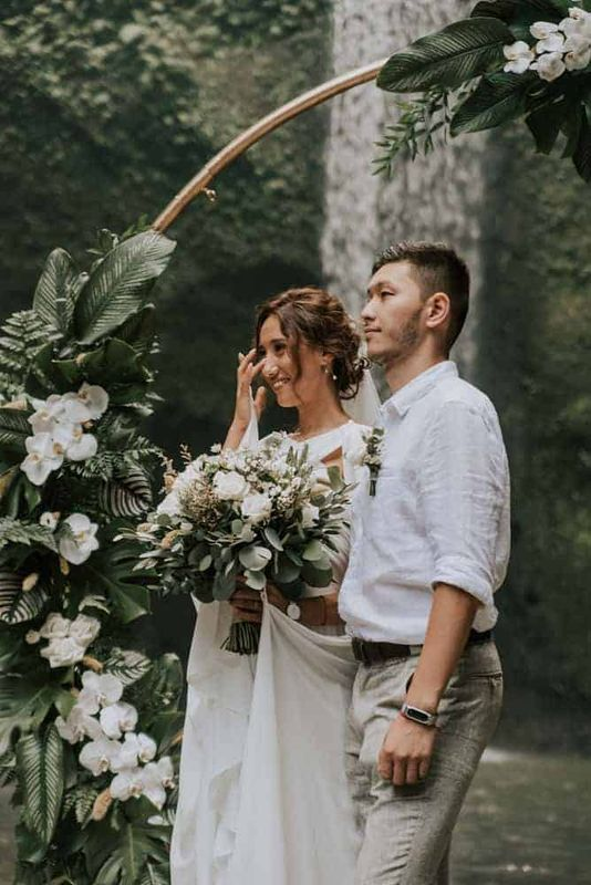 Bali Elopement Tibumana Waterfall Bali Wedding Inspiration13