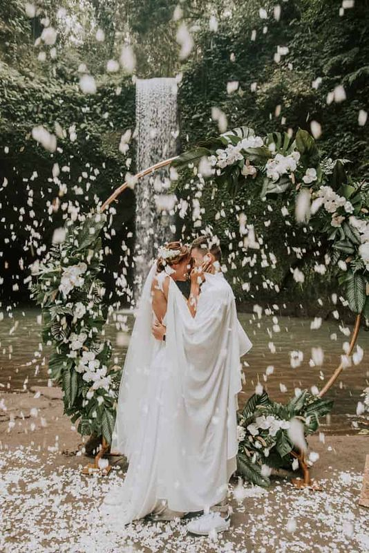 Bali Elopement Tibumana Waterfall Bali Wedding Inspiration16