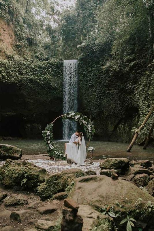 Bali Elopement Tibumana Waterfall Bali Wedding Inspiration20