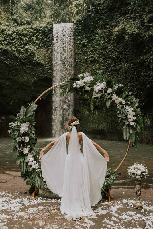 Bali Elopement Tibumana Waterfall Bali Wedding Inspiration23