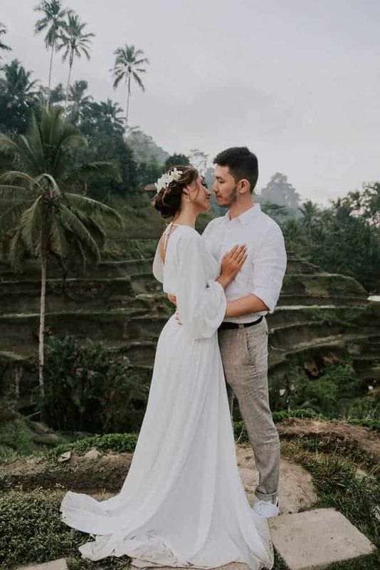 Bali Elopement Tibumana Waterfall Bali Wedding Inspiration4