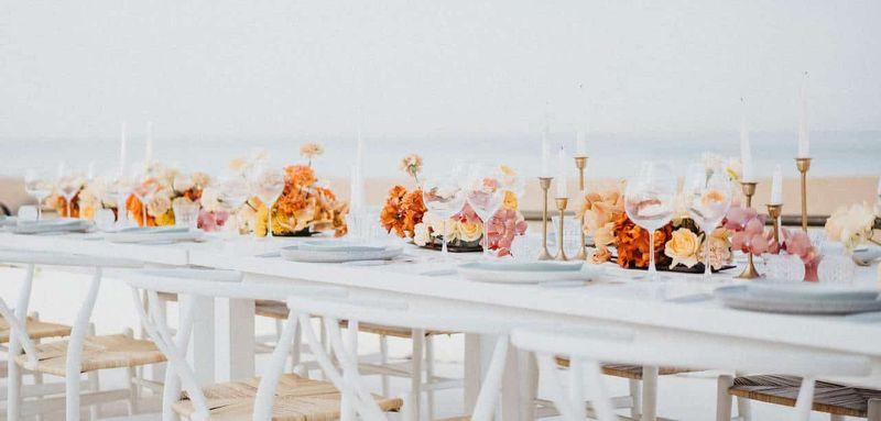 CDM BEH long table shot orange