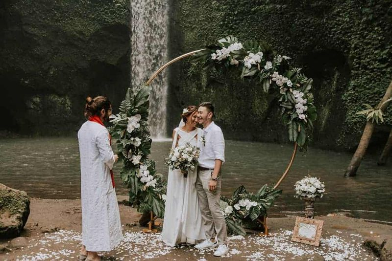 Bali Elopement Tibumana Waterfall Bali Wedding Inspiration12
