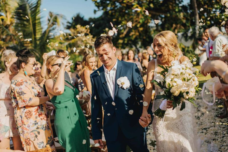 Real Bali Wedding: Kate and Nick's Tropical Luxe Wedding at Villa Arika in Canggu | The Bali Bride, Bali Wedding Directory