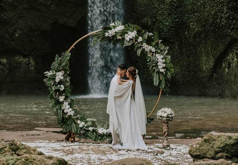 Bali Elopement Tibumana Waterfall Bali Wedding Inspiration21